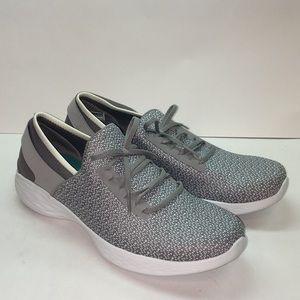 Women's You Inspire Slip On Shoes by Skechers Grey